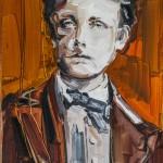 Arthur Rimbaud, óleo sobre lienzo, 33x22 cm