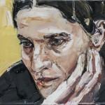 Adelaida García Morales, óleo sobre lienzo, 16x22 cm