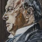 Henry James, óleo sobre lienzo, 22x16 cm