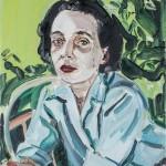 Marguerite Duras, óleo sobre lienzo, 49x34 cm