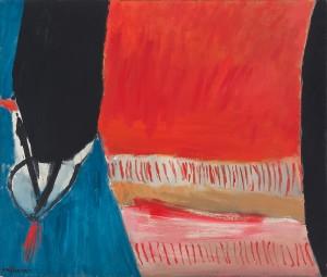 José Guerrero, Sin título, óleo sobre lienzo, 106,5x125 cm, año 1965