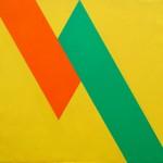 Macla en amarillo de sus contiguos, óleo sobre lienzo, 100 x 86 cm.