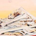 Montaña de huesos, 130 x 162 cm, óleo sobre lienzo
