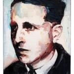 Georges Bataille, 27 x 22 cm, óleo sobre lienzo,