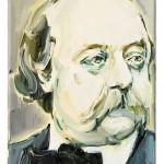 Gustave Flaubert (1), 24 x 19 cm, óleo sobre lienzo