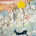 Espectros del bosque, 146 x 97 cm óleo y carbón sobre lienzo