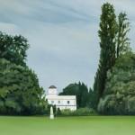Observatorio, óleo sobre lienzo, 51 x 81 cm