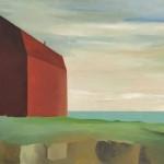 Casa roja, óleo sobre lienzo, 72 x 130 cm