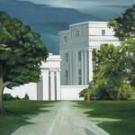 Casa blanca, óleo sobre lienzo, 51 x 81 cm