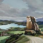 Torre en ruinas, óleo sobre lienzo, 73 x 100 cm