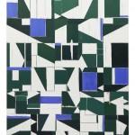 S/T (verde y real), óleo sobre tela, 195 x 165 cm