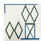 S/T (cuatro rombos), óleo sobre tela, 56 x 50 cm