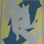 S/T (sobre módulos blancos), óleo sobre tela, 78 x 65 cm